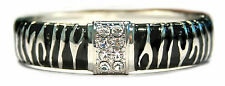 Bulk lot x 12 - BLACK CRYSTAL/TIGER PRINT BANGLE