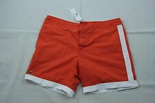 Lacoste Orange Drawstring Cotton Swim Trunk MH9735 Sz. XL BNWT Authentic