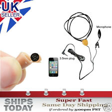 COVERT SPY WIRELESS INDUCTIVE LOOP EARPIECE EARPHONE CONNECTS TO PHONE BUG 007