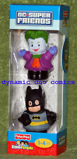 Fisher Price Little People JOKER & BATMAN 2 Pack DC Super Friends