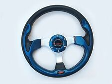 "12.5"" Steering Wheel For Polaris RZR Ranger Can-am Maverick Black Carbon Blue"