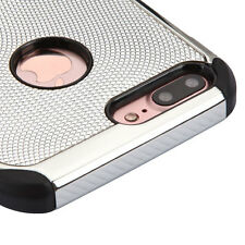 For iPhone 7 PLUS Silver Plating Luxury Hybrid Armor Impact Protector Skin Case