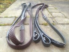 """HERITAGE 100% CUIR ANGLAIS BRUN COMPLET TAILLES 56"""" FLEXI BIO GRIP"""