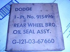 1 - NOS WW2 Dodge G502 4x4  / G507 6x6 Rear Wheel Bearing Oil Seal - One Only