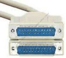 10ft DB25 pin Male~M 25wire Parallel Bi-Directional/RS232 Serial Cable/Cord/Wire