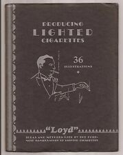 PRODUCING LIGHTED CIGARETTES by E. Loyd Enochs 1936