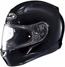 NEW 3X HJC CL-17 Solid Gloss Black Full Face Helmet Adult DOT SNELL