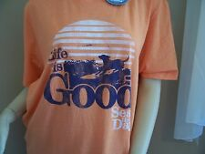 LIFE IS GOOD    Mens  Crusher    COOL TEE   SEAS THE DAY   Large   NWT