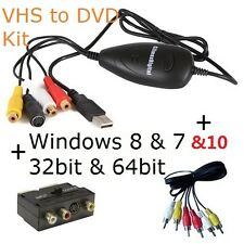 ClimaxDigital VCAP302 VHS Video & Camcorder Tapes to PC/DVD Kit  windows 8 / 10