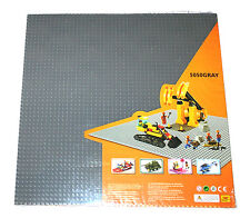 "Generic Gray 50x50 building baseplate, cover 15x15"" area base plate + 1 lego PC"
