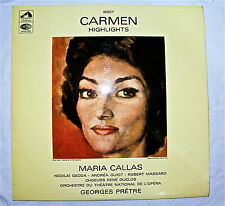 ASD 2282 Maria Callas Bizet Carmen LP Highlights 1966