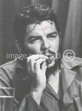 Che Guevara Cuban Military Revolution Poster  18x24 B/W with Cigar