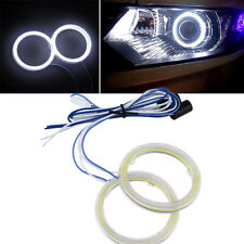 Universal Car 70mm COB LED Halo Ring Lights DRL Fog Headlight Angel Eyes