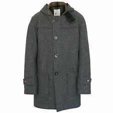 PRIVATE WHITE V.C. men's hooded grey wool duffle pea coat vc jacket 6/XL NEW