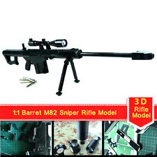 Model Papercraft 3D Paper Toy 1:1 Jigsaws Puzzle For Barrett Sniper M82 Rifle