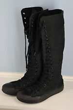 Converse All Star Black Tall Knee High Lace Up Men 4 Women 6 Super Tall Punk