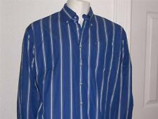 MENS TOMMY HILFIGER BLUE WHITE BLACK STRIPED SHIRT SIZE XL AWESOME CLEAN LOOK