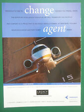 3/2005 PUB AVION EMBRAER LEGACY AIRCRAFT EXECUTIVE JETS BRAZIL ORIGINAL  AD