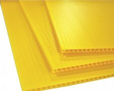 4mm Yellow 24 x 36 (4 pack) Corrugated Plastic Coroplast Sheets Sign* Vertical