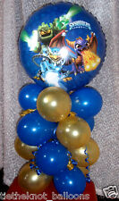 BALLOON TABLE DISPLAY PARTY DECORATION SKYLANDERS  BIRTHDAY no message AIR FILL