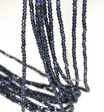 2MM DISCO BLUE SANDSTONE GEMSTONE BLUE FACETED ROUND 2MM LOOSE BEADS 16""