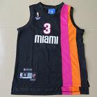 Miami Heat Dwyane Wade swingman Floridians black jersey Size S M L XL XXL