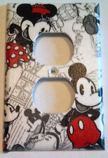 Retro Mickey Mouse Minnie Outlet Plate Cover Bedroom Bathroom Kitchen Wall Decor
