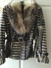MaXimilian At Bloomingdale Fur Jacket Woman Coat Rabbit Fox Sz 40 NWOT Spain