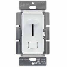 LED/CFL Dimmer Wall Light Switch Single Pole 3-Way Decorator Rocker WHITE Cover