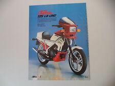 advertising Pubblicità 1985 MOTO LAVERDA 125 LB UNO