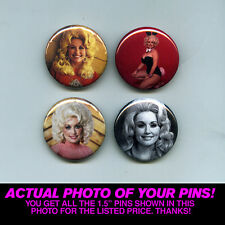 "DOLLY PARTON - 1.5"" PINS / BUTTONS (poster print art record lp shirt vintage)"