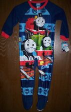 THOMAS the Train Pajamas Toddler 4T NeW Zip-Up Footed Blanket Sleeper Pjs Percy