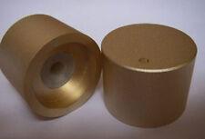 "2PCS 30x22 1/4"" SHAFT GOLD-PLATED SOLID Aluminum CD VOLUME CONTROL ROTARY KNOB"