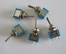5x SPDT Guitar Mini Toggle Switch 2-Position ON-ON 3 PIN Car/Boat Switches