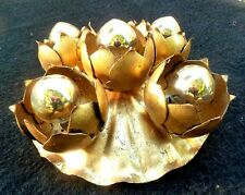 FLORENTINER WANDLAMPE GOLD MESSING VINTAGE 1970s MID CENTURY SCONCE PLAFONIERE