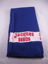 "Vtg Jacques Seeds Winter Neck Scarf Farming Advertising 58"" Long Blue NOS"