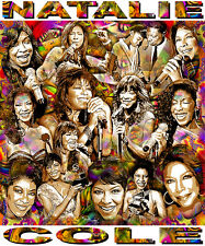 """""""NATALIE COLE"""" TRIBUTE -12 X 14"""" POSTER PRINT BY ED SEEMAN"""