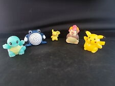 5 Pokemon Nintendo Toy Figures incl 2 Steel Ball Rolling Figure MINT Condition