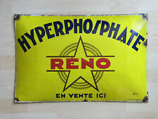 PLAQUE EMAILLEE BOMBEE ANCIENNE HYPERPHOSPHATE RENO ENGRAIS DEBUT XXEME