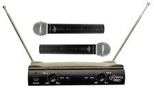 PYLE DJ PRO 2 MICs KARAOKE 2 CH VHF DUAL CORDLESS WIRELESS MICROPHONE SYSTEM NEW