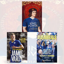Leicester City's Football Collection 3 Books Set The Immortals,Jamie Vardy, New