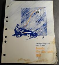1987 SKI-DOO SKANDIC R SNOWMOBILE PARTS MANUAL P/N 480 1215 00   (330)