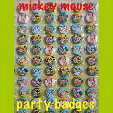 Mickey Mouse Party Badges. Minnie Mouse And More. Set Of 15 Pin Badges