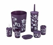 Bathroom Accessory Set 7 PC Toilet Brush Ensembles Toothbrush Wastebasket Holder