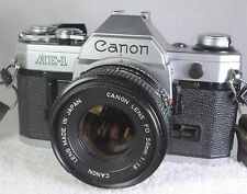 Canon AE-1 35mm Film Camera w/ 50mm 1.8 Lens Exc Condition Works