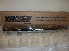 Vance & Hines Harley Touring Hi-Output Chrome Round Slip-On Muffler NEW D266RC
