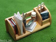 Accessories Dollhouse Miniature Wooden Stationery & book shelf re-ment size