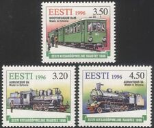 Estonia 1996 Trains/Railways/Rail/Steam Engine/Locomotive/Transport 3v (ee1061)