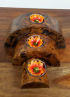 Mango Wood 3 Arch T-Light Holder 014,Wooden Carvings,Wood,Wooden Ornaments,Asian