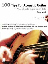 100 Tips For Acoustic Guitar Learn to Play Beginner Lesson Music Book & CD